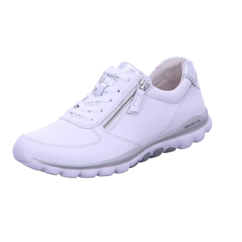 Sneaker Schnürhalbschuh Freizeit Damen Weiß Neu