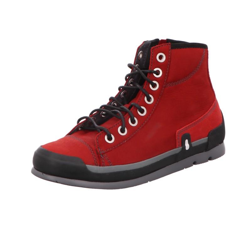 Schnürstiefel Boots Damen Rot Neu Watson Longbeach