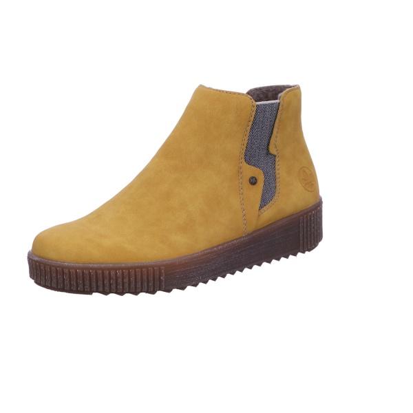 Schlupfstiefelette Stiefel Boots Damen Gelb Neu