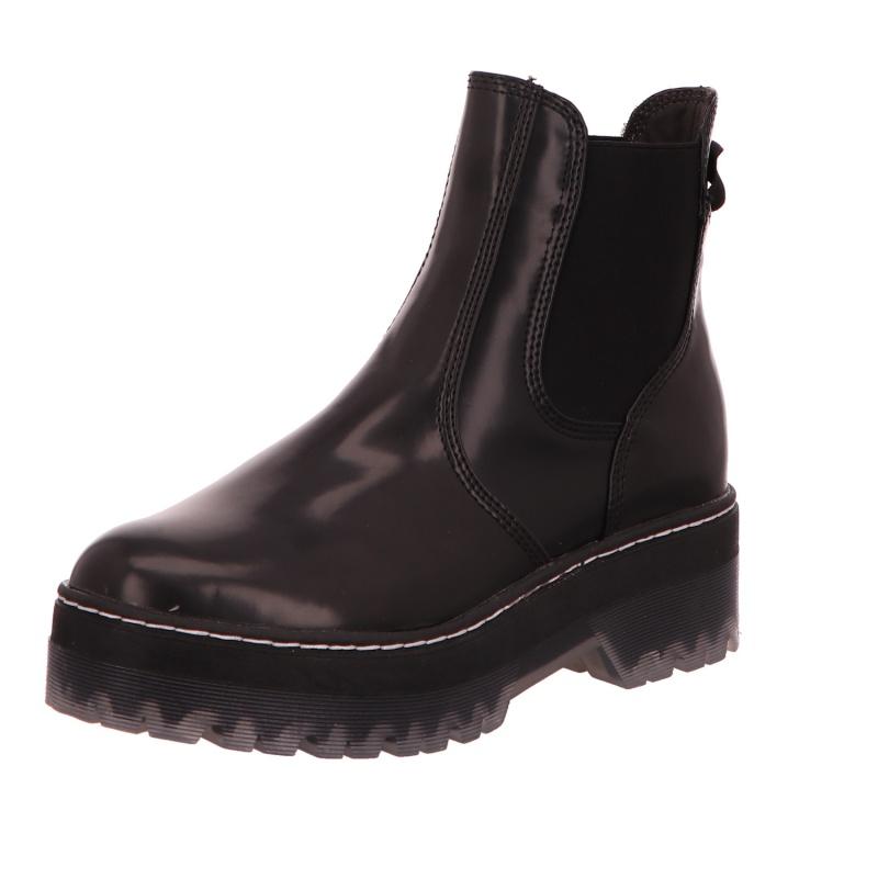 Schlupfstiefelette Stiefel Boots Damen Black Neu