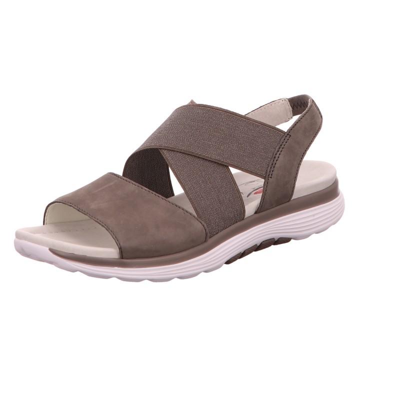 Sandalette Freizeit Sommerschuh Damen Grau Neu