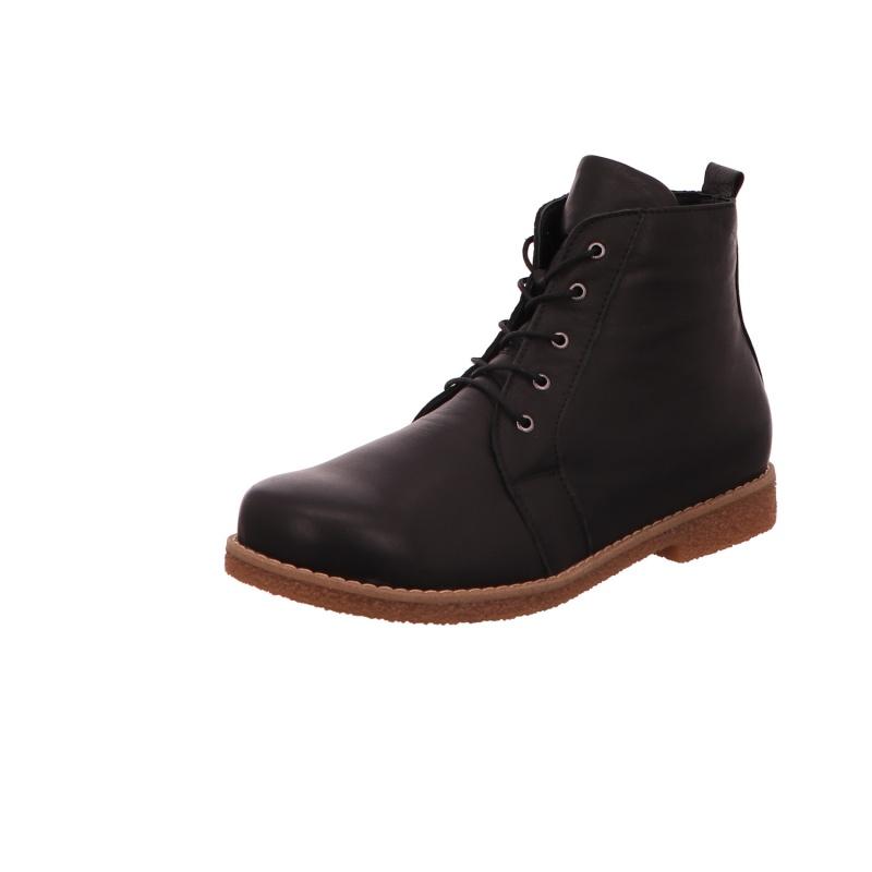 Schnürstiefelette Stiefel Boots Damen Schwarz Neu