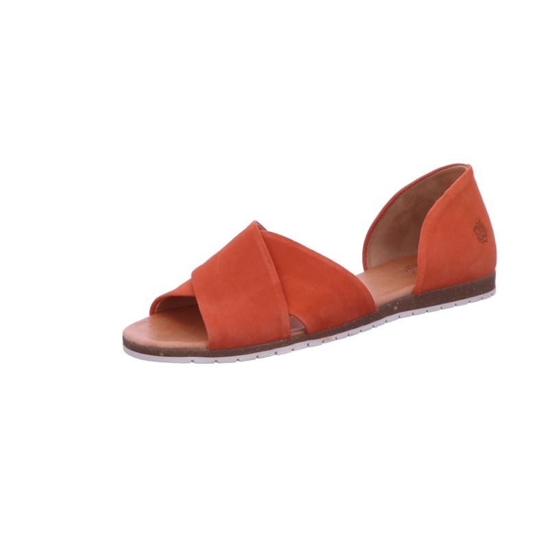 Sandalette Sommerschuh Freizeit Damen Orange Neu