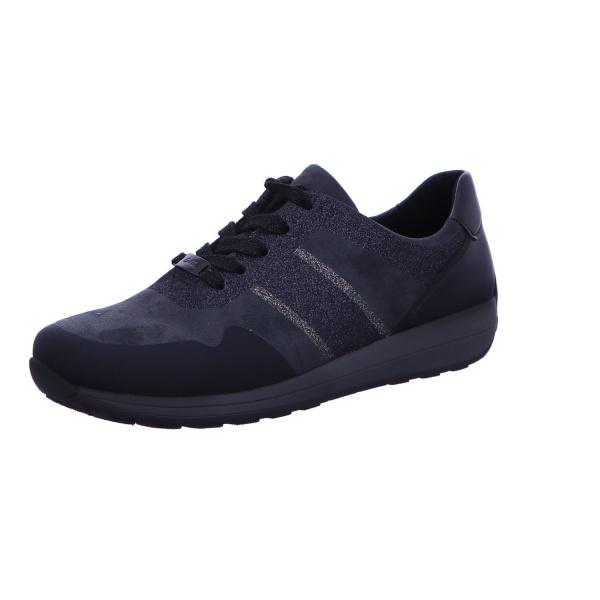 Schnürstiefelette Stiefel Boots Damen Blau Osaka