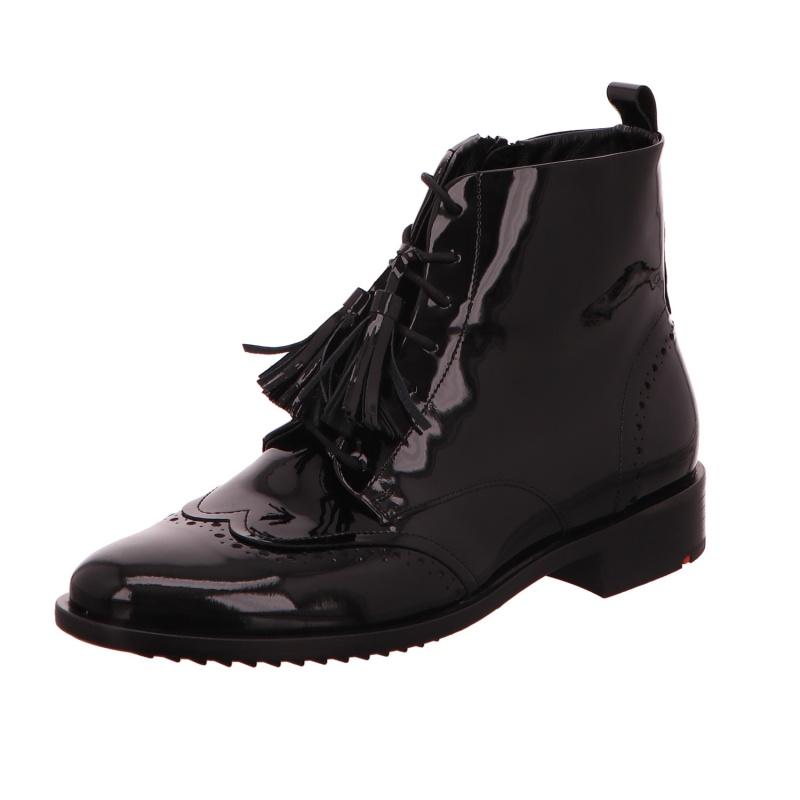 Schnürstiefelette Stiefel Boot Damen Schwarz Neu