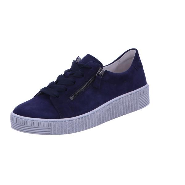 Sneaker Schnürhalbschuh Freizeit Damen Blau
