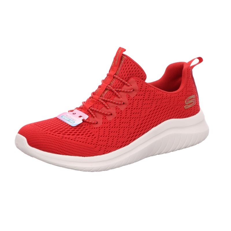 Sneaker Halbschuh Damen Rot Neu Ultra-Flex 2.0