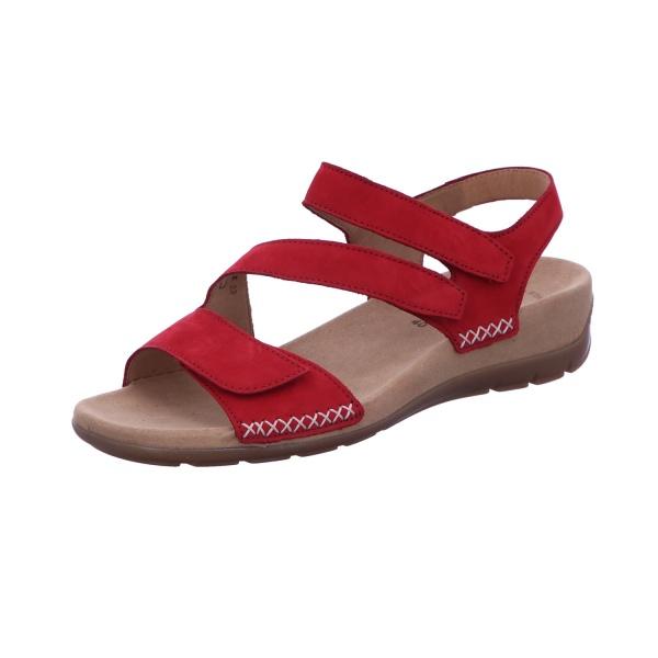 Sandale Klette Freizeit Damen Rot