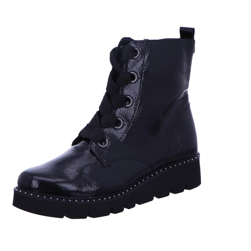 Schnürstiefel Stiefel Boots Damen Schwarz Neu
