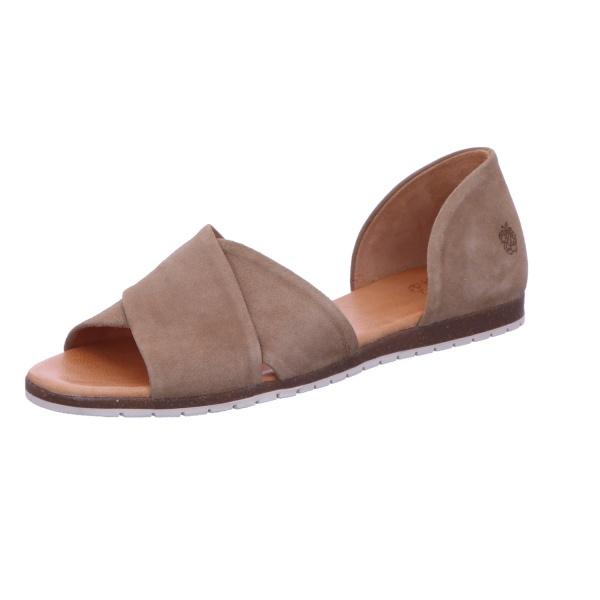 Sandalette Sommerschuh Freizeit Damen Taupe Neu