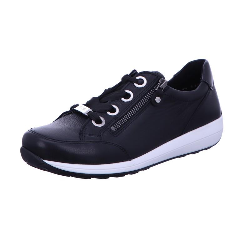 Sneaker Sportschuh Schnürschuh Damen Schwarz Osaka