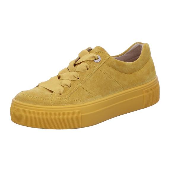 Sneaker Schnürhalbschuh Freizeit Damen Gelb