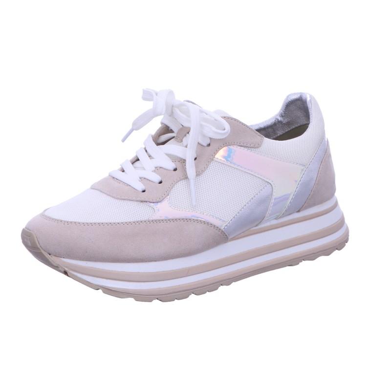 Sneaker Sportschuh Schnürschuh Damen Weiß-Multi