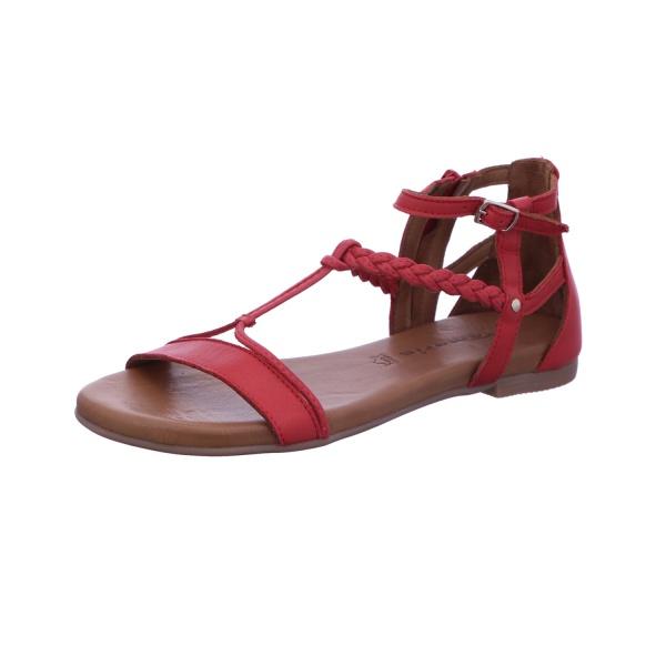Sandalette Absatzschuh Sommerschuh Damen Rot Neu