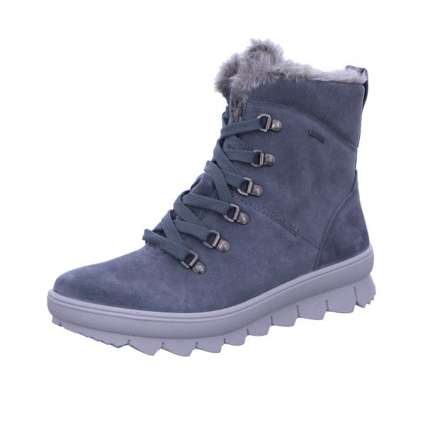 Schnürstiefelette Stiefel Boot Damen Grau Neu