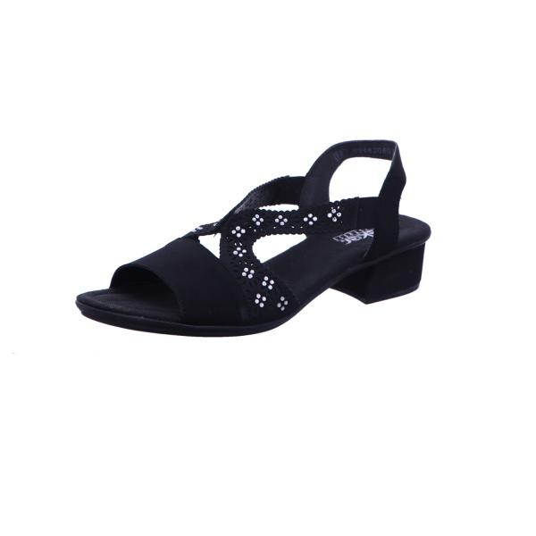 Sandalette Absatzschuh Sommerschuh Damen Schwarz
