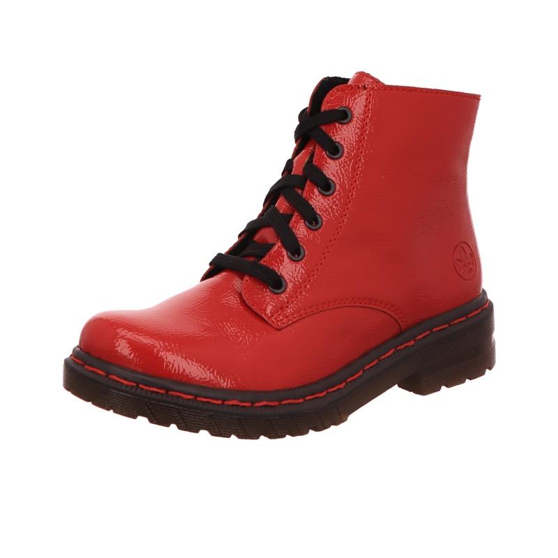 Schnürboot Stiefel Boots Damen Rot Neu