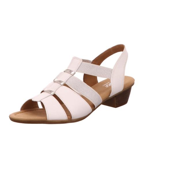 Sandalette Sommerschuh Damen Weiß Kreta Neu