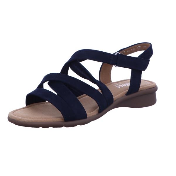 Sandalette Schnalle Freizeit Damen Blau Florenz