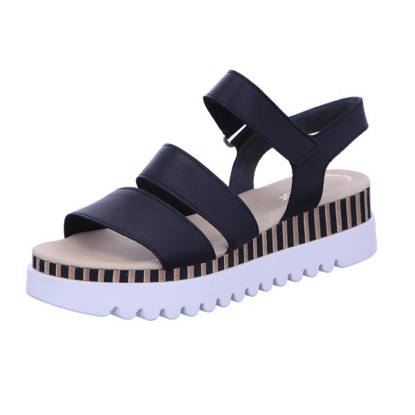 Sandalette Klettverschluss Freizeit Damen Schwarz
