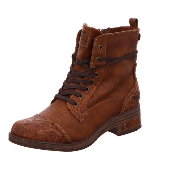 Schnürstiefelette Stiefel Boots Damen Braun Neu