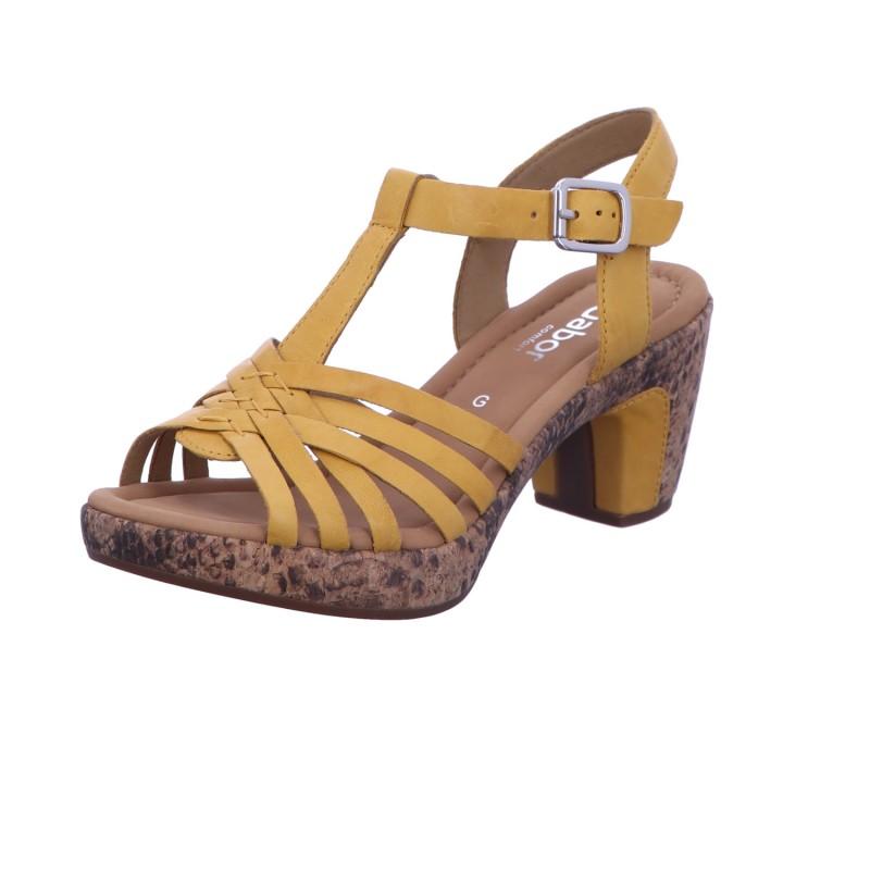 Sandalette Schnalle Freizeit Damen Gelb St. Tropez