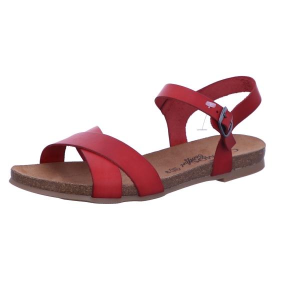 Sandale Schnalle Freizeit Damen Rot