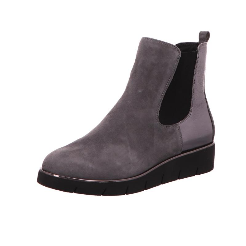Schlupfstiefelette Stiefel Boots Damen Grau Neu