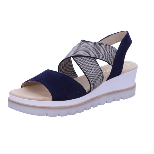 Sandale Freizeit Damen Blau