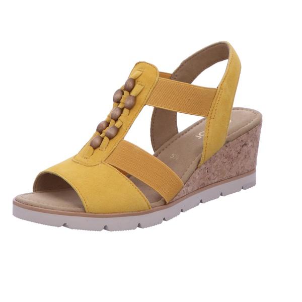 Sandale Freizeit Damen Gelb