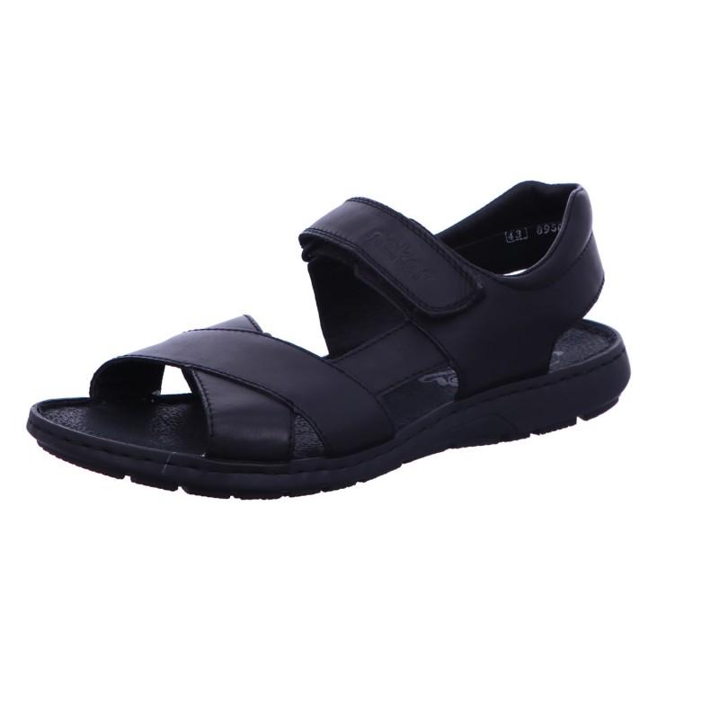 Herren Sandale Sandalette Schwarz Neu