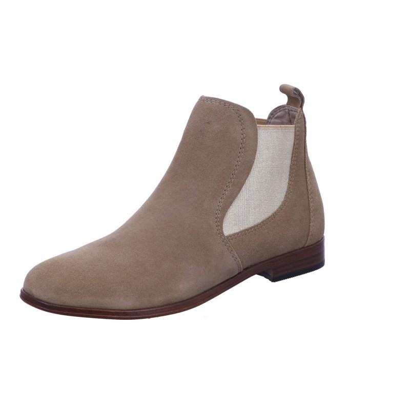 Schlupfstiefelette Stiefel Boots Damen Beige Neu