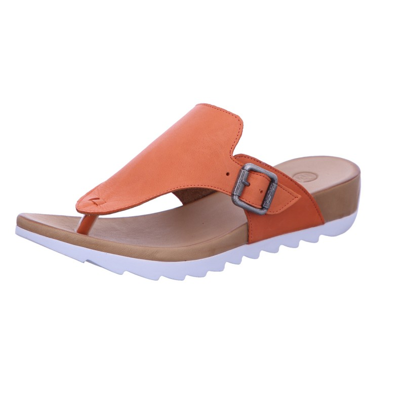 Pantolette Zehensteg Freizeit Damen Orange