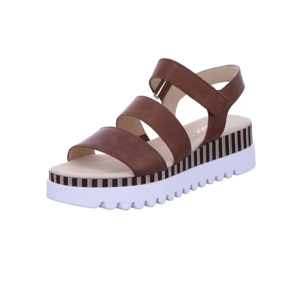 Sandalette Klettverschluss Freizeit Damen Braun