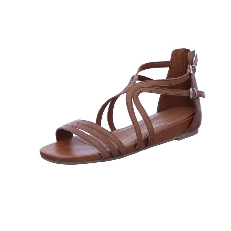 Sandalette Absatzschuh Sommerschuh Damen Beige Neu