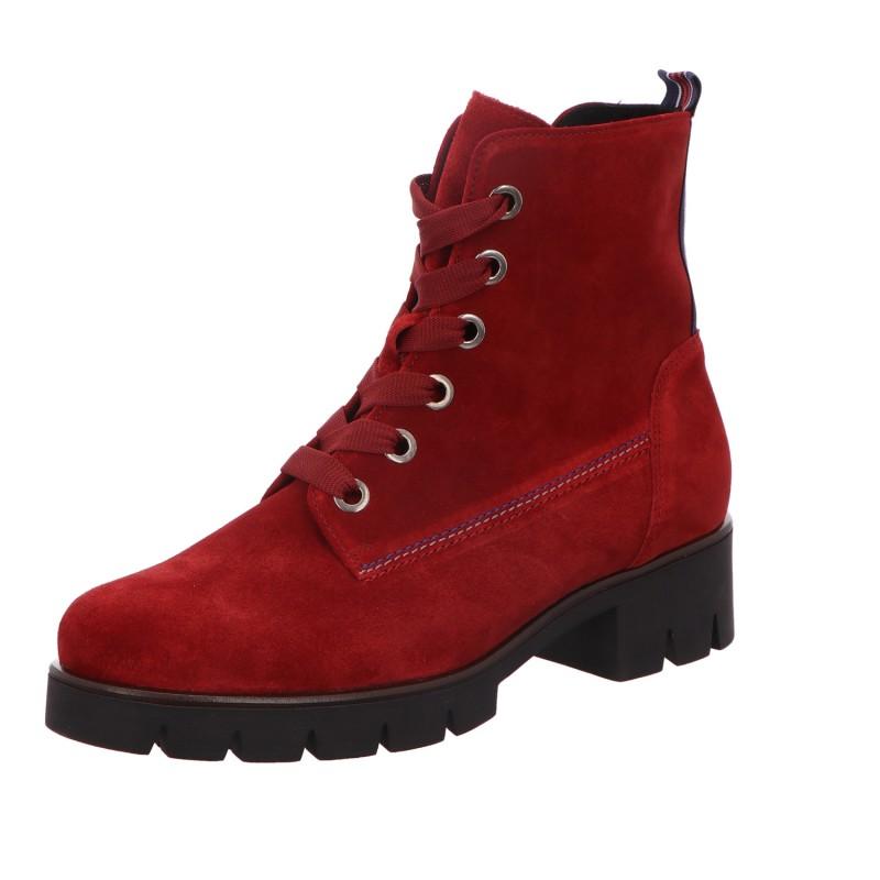 Schnürstiefel Stiefel Boots Damen Rot Neu
