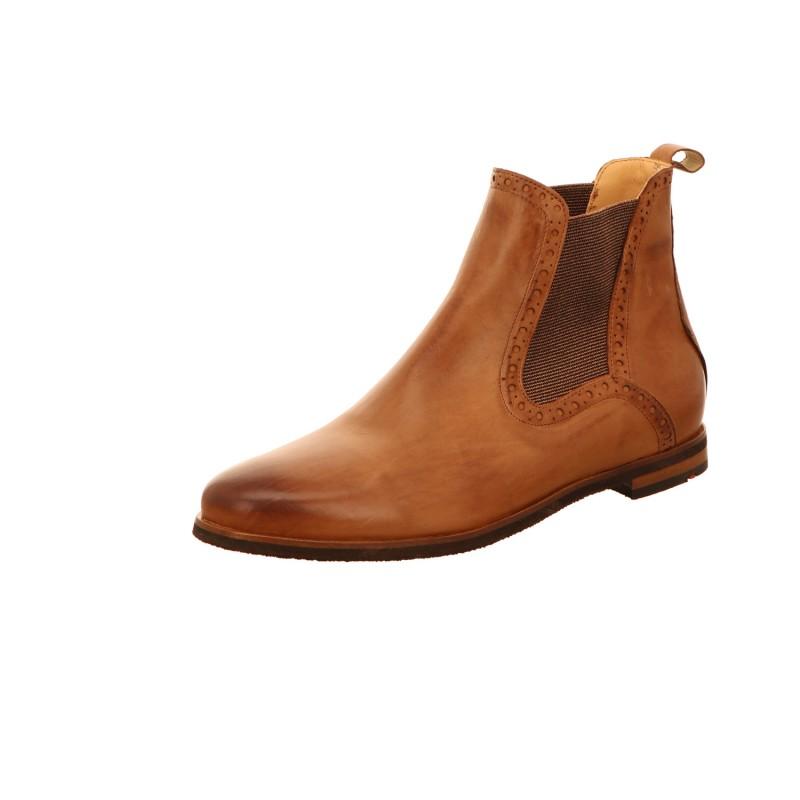 Schlupfstiefelette Stiefel Boots Damen Braun Neu