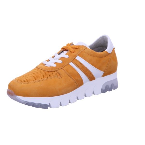 Sneaker Sportschuh Schnürschuh Damen Orange Neu