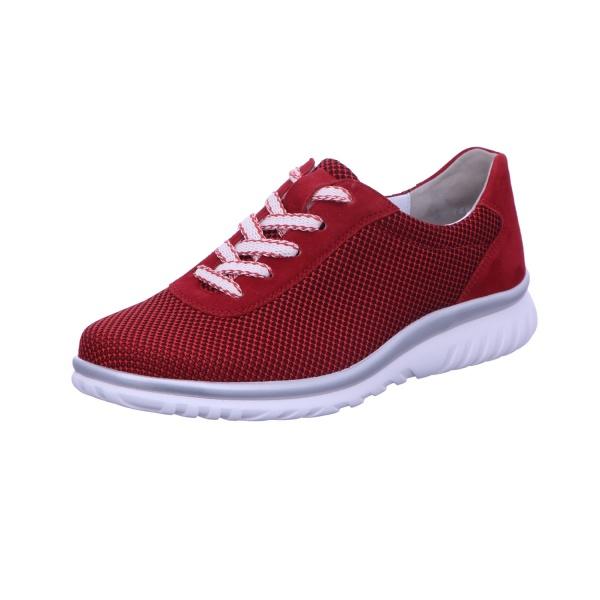 Sneaker Schnürhalbschuh Bequem Freizeit Damen Rot