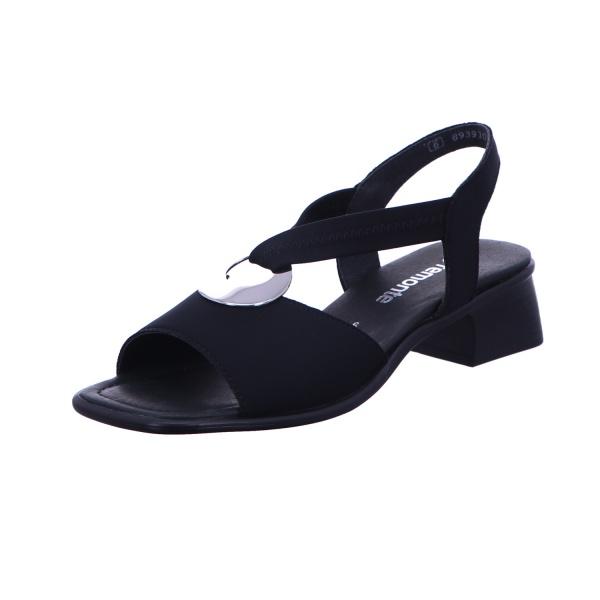Sandalette Absatzschuh Sommer Damen Schwarz Neu
