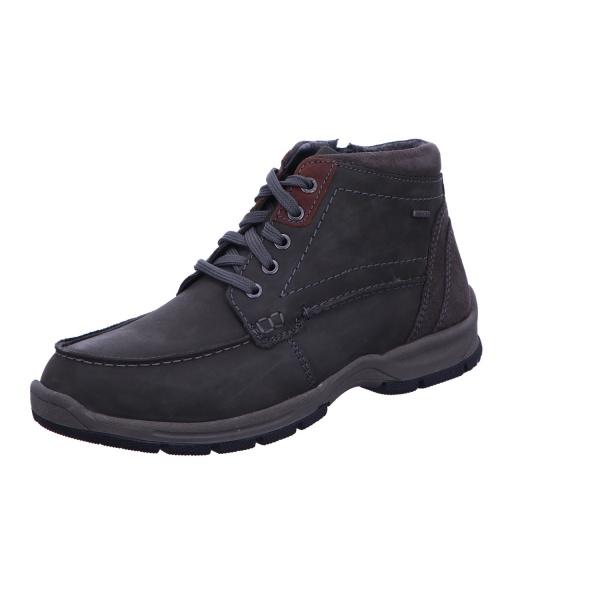 Schnürstiefelette Boots Stiefel Herren Grau Lenny