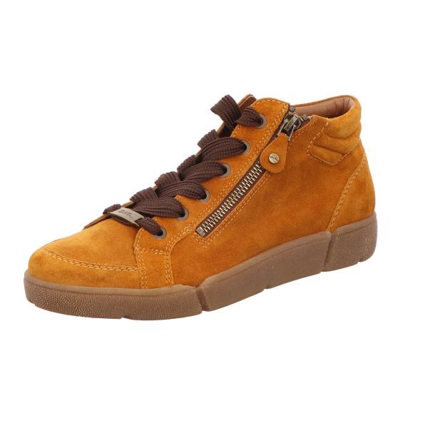 Schnürstiefelette Stiefel Boots Damen Gelb Rom Neu