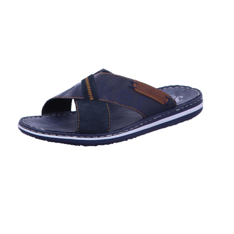 Pantolette Sommer Freizeit Sandale Herren Blau Neu