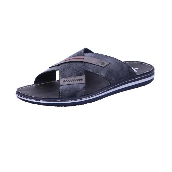 Pantolette Sandalette Herren Blau