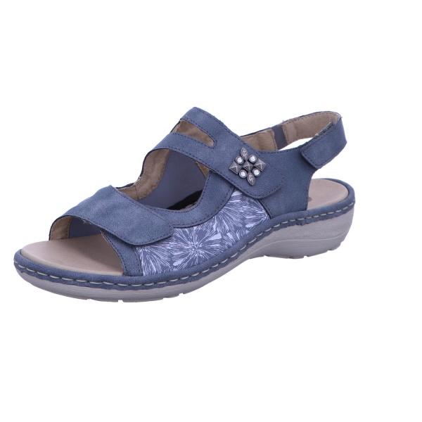 Sandalette Keilschuh Sommer Damen Blau Neu