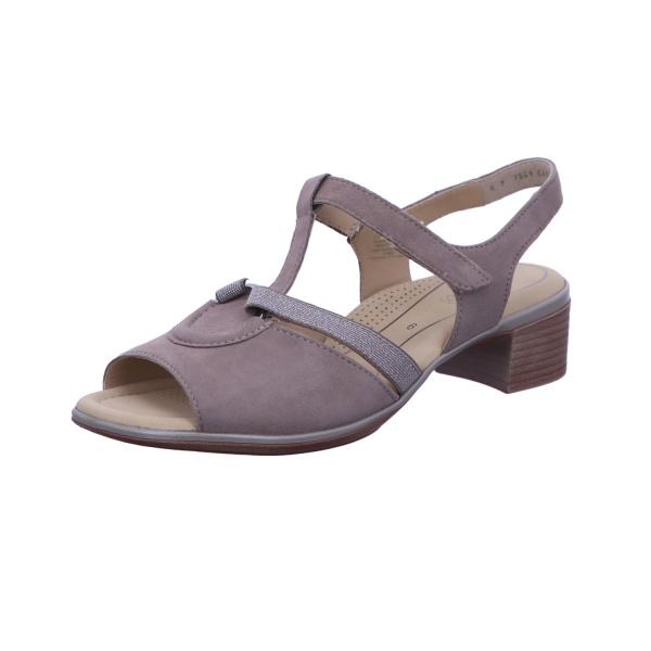 Sandalette Absatzschuh Damen Taupe Lugano Neu