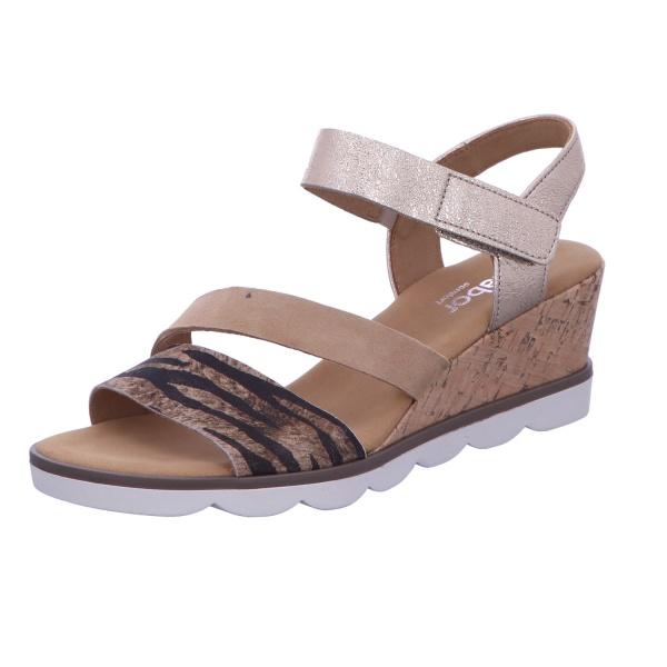 Sandalette Freizeit Damen Braun-Kombi Tunis