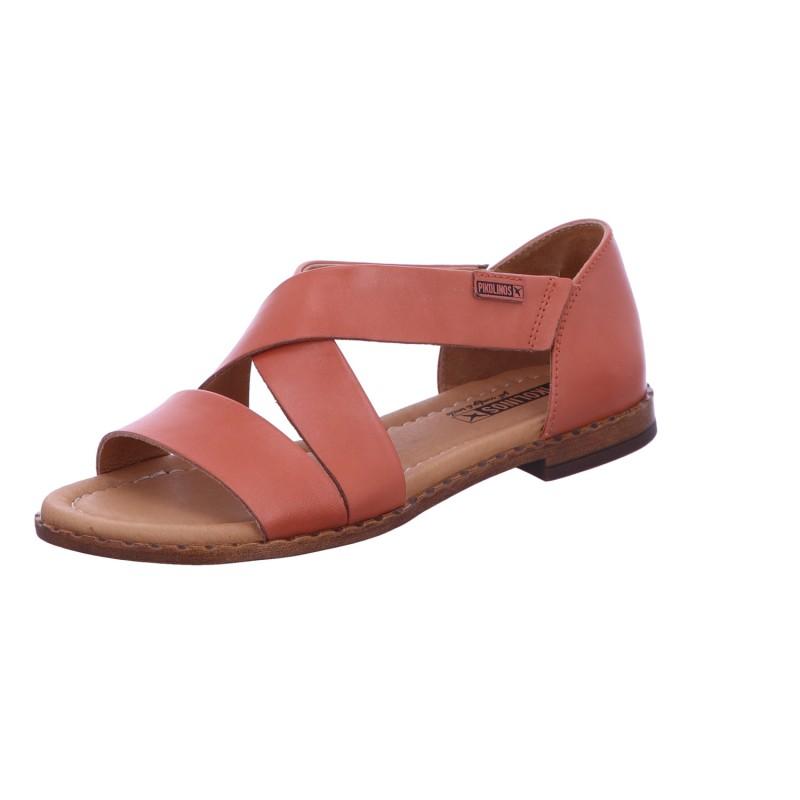 Sandale Schnalle Freizeit Damen Rot Algar