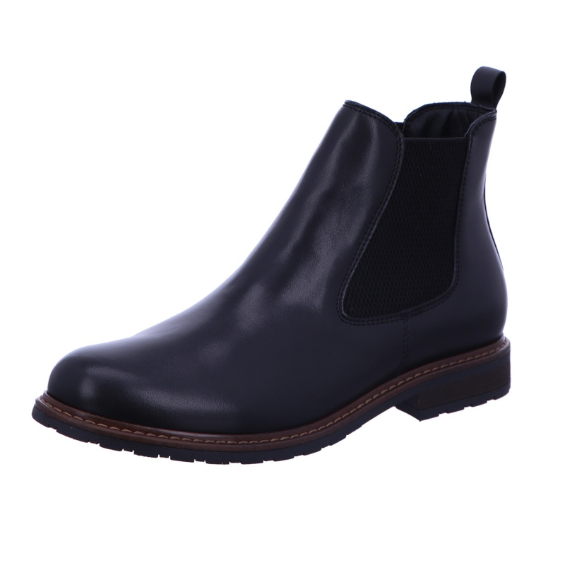 Schlupfstiefelette Stiefel Boots Damen Schwarz Neu