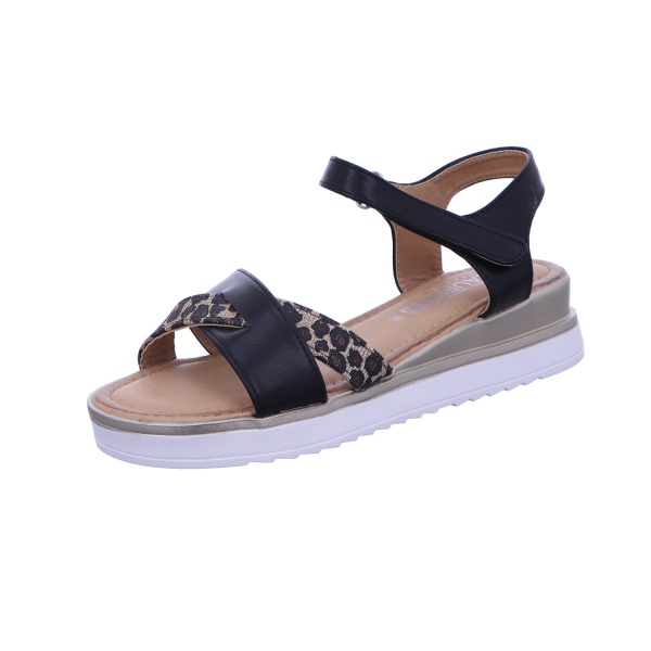Sandale Klett Freizeit Damen schwarz